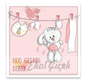 Hoş Geldin Kız Bebek Gift Kart
