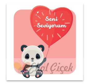 Seni Seviyorum Gift Kart